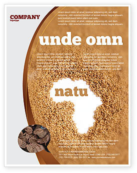 Medical: Modèle de Flyer de famine africaine #04841