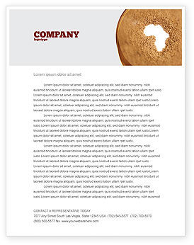 Medical: African Famine Letterhead Template #04841