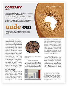 Medical: African Famine Newsletter Template #04841