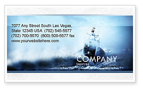 Nature & Environment: Sea Storm Business Card Template #04842