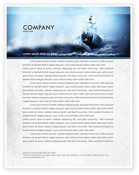 Nature & Environment: Sea Storm Letterhead Template #04842