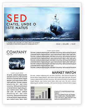 Nature & Environment: Sea Storm Newsletter Template #04842