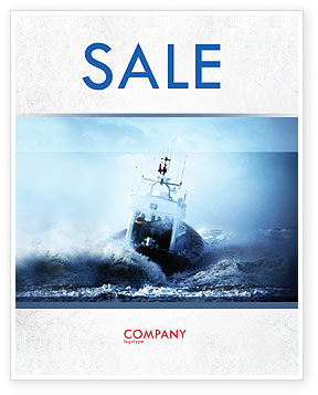 Nature & Environment: Sea Storm Sale Poster Template #04842