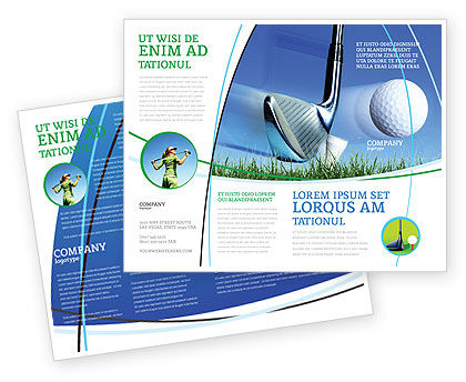 Sports: Slight Bump In Golf Brochure Template #04845