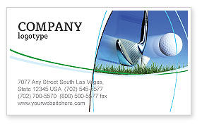 Sports: Slight Bump In Golf Business Card Template #04845