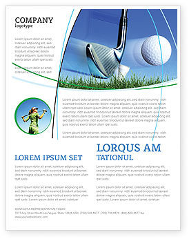 Sports: Slight Bump In Golf Flyer Template #04845