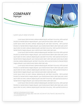 Slight Bump In Golf Letterhead Template, 04845, Sports — PoweredTemplate.com