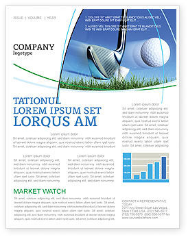 Sports: Slight Bump In Golf Newsletter Template #04845