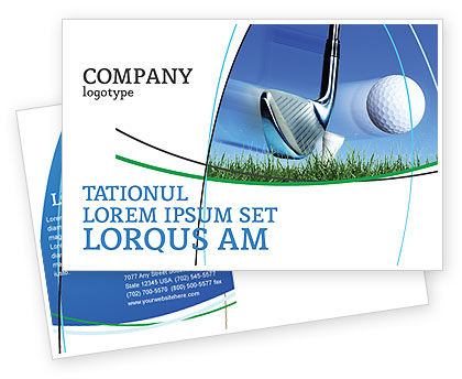 Sports: Slight Bump In Golf Postcard Template #04845