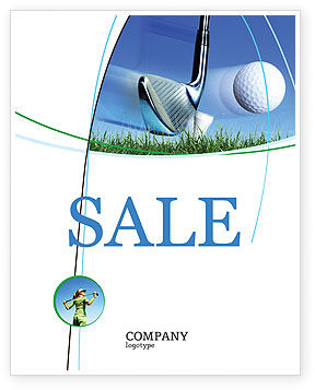 slight bump in golf sale poster template in microsoft word