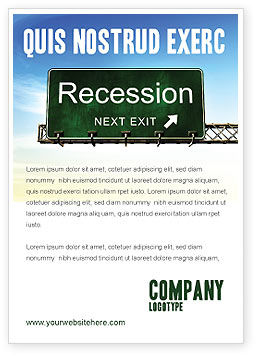 Financial/Accounting: Recession Ad Template #04847
