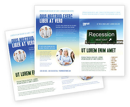 Recession Brochure Template, 04847, Financial/Accounting — PoweredTemplate.com