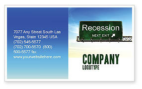 Financial/Accounting: Recession Business Card Template #04847