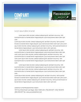 Recession Letterhead Template, 04847, Financial/Accounting — PoweredTemplate.com