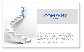 Careers/Industry: Stairway To Exit Business Card Template #04849