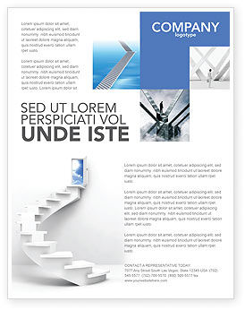 Stairway To Exit Flyer Template, 04849, Careers/Industry — PoweredTemplate.com