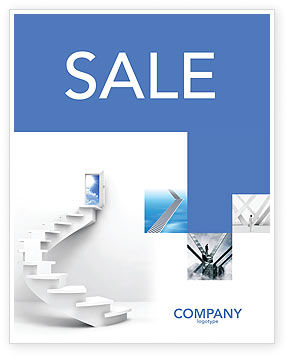 Careers/Industry: Stairway To Exit Sale Poster Template #04849