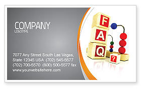 Consulting: FAQ Business Card Template #04852