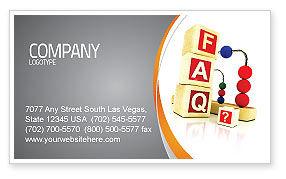 FAQ Business Card Template, 04852, Consulting — PoweredTemplate.com