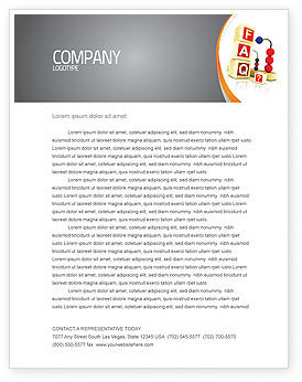 Consulting: FAQ Letterhead Template #04852