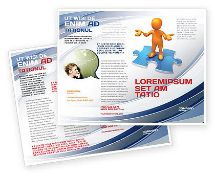 Don't Know Brochure Template, 04853, Consulting — PoweredTemplate.com
