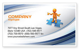 Don't Know Business Card Template, 04853, Consulting — PoweredTemplate.com