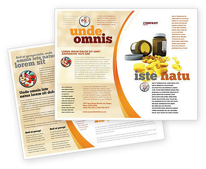 Capsules Brochure Template, 04855, Medical — PoweredTemplate.com