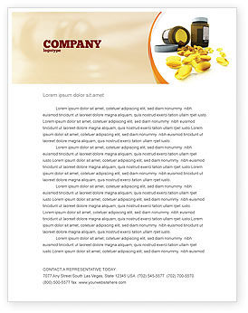 Capsules Letterhead Template, 04855, Medical — PoweredTemplate.com