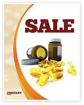 Capsules Sale Poster Template, 04855, Medical — PoweredTemplate.com