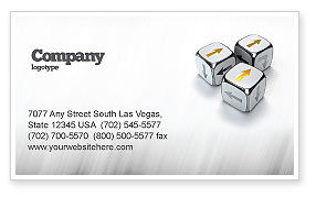 Business Concepts: Direction Of Movement Business Card Template #04856