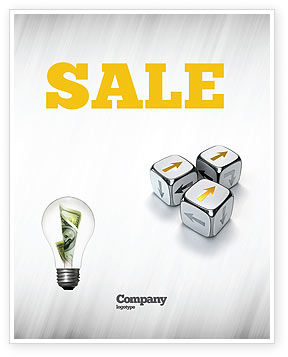 Business Concepts: Direction Of Movement Sale Poster Template #04856