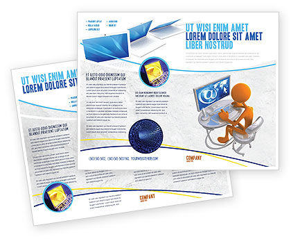 Internet Addiction Brochure Template, 04860, Education & Training — PoweredTemplate.com