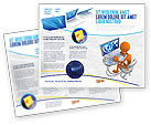 Education & Training: Internet Addiction Brochure Template #04860