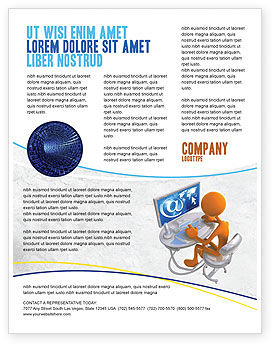 Education & Training: Templat Flyer Kecanduan Internet #04860