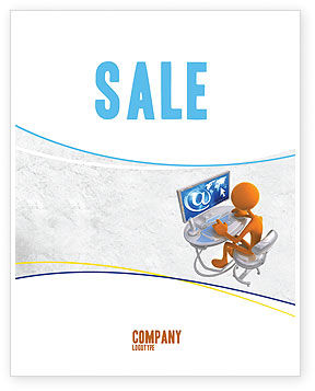 Internet Addiction Sale Poster Template, 04860, Education & Training — PoweredTemplate.com