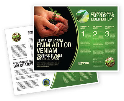 Nature & Environment: Planting Brochure Template #04862