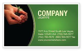 Planting Business Card Template, 04862, Nature & Environment — PoweredTemplate.com
