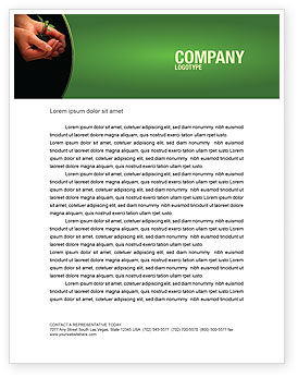 Nature & Environment: Planting Letterhead Template #04862