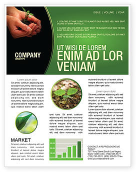 Nature & Environment: Planting Newsletter Template #04862