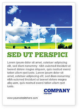 Nature & Environment: Zonnig Landschap Advertentie Template #04863