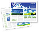 Nature & Environment: Sunny Landscape Brochure Template #04863