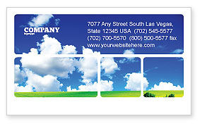 Nature & Environment: Sunny Landscape Business Card Template #04863