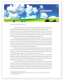 Sunny Landscape Letterhead Template, 04863, Nature & Environment — PoweredTemplate.com