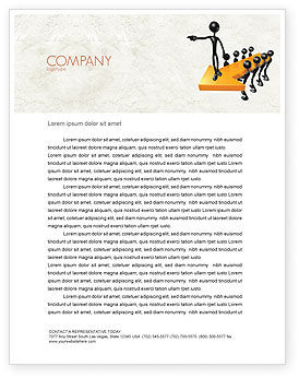 Business Concepts: Specify Direction Of Movement Letterhead Template #04864