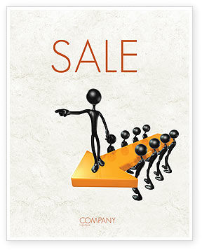 Specify Direction Of Movement Sale Poster Template, 04864, Business Concepts — PoweredTemplate.com