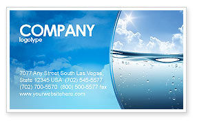 Water Wave Business Card Template, 04866, Careers/Industry — PoweredTemplate.com