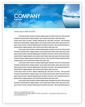 Water Wave Letterhead Template, 04866, Careers/Industry — PoweredTemplate.com
