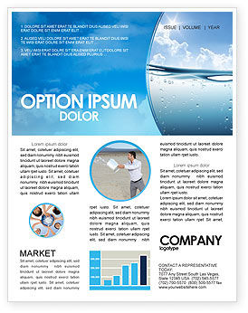 Water Wave Newsletter Template, 04866, Careers/Industry — PoweredTemplate.com
