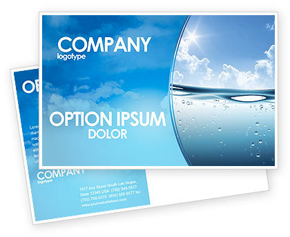 Water Wave Postcard Template, 04866, Careers/Industry — PoweredTemplate.com