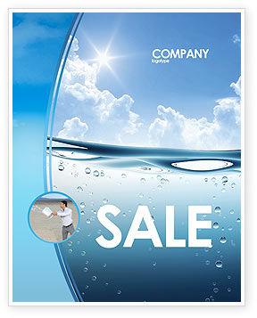Water wave sale poster template in microsoft word for Water brochure template